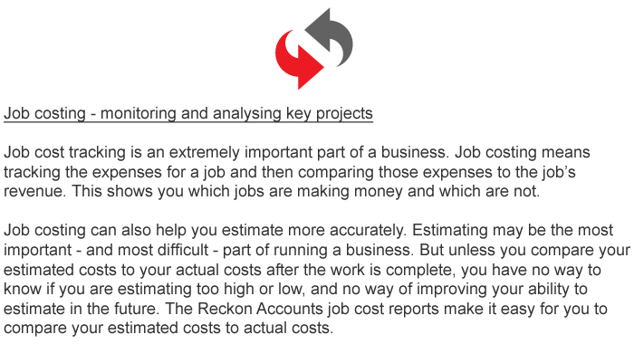 features of job costing pdf